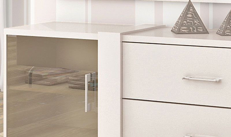 Rack para TV Refletto Off White - Imcal  - MoveisAqui - Loja de móveis online!