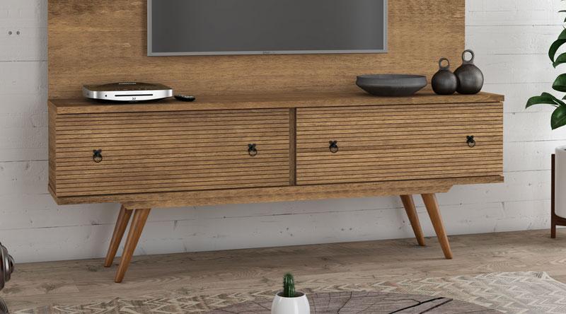 Rack para TV Titanium Naturale - RV Móveis