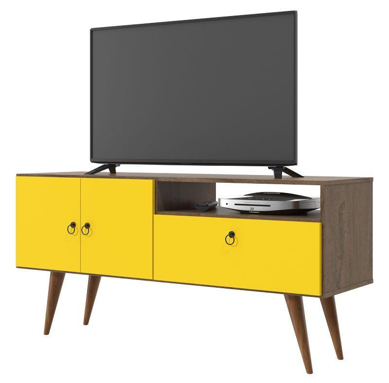 Rack para TV Topázio Demolição Amarelo - Patrimar Móveis