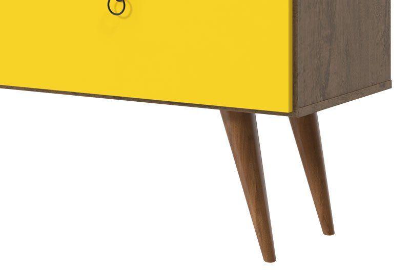 Rack para TV Topázio Demolição com Amarelo - Patrimar Móveis