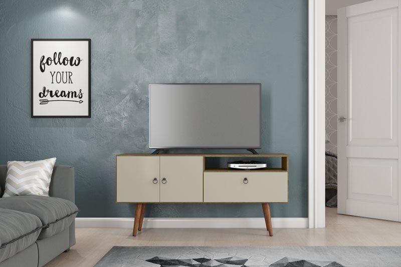 Rack para TV Topázio Demolição com Off White - Patrimar Móveis
