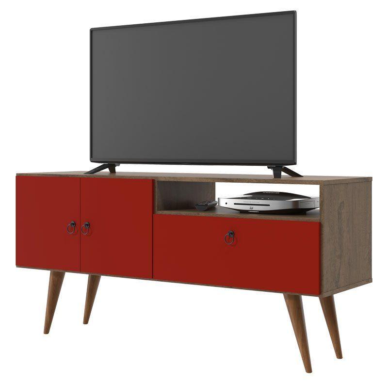 Rack para TV Topázio Demolição Vermelho - Patrimar Móveis