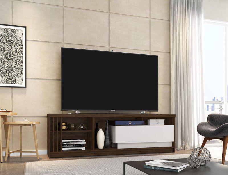 Rack para TV Veneto Rústic com Off White - Germai Móveis