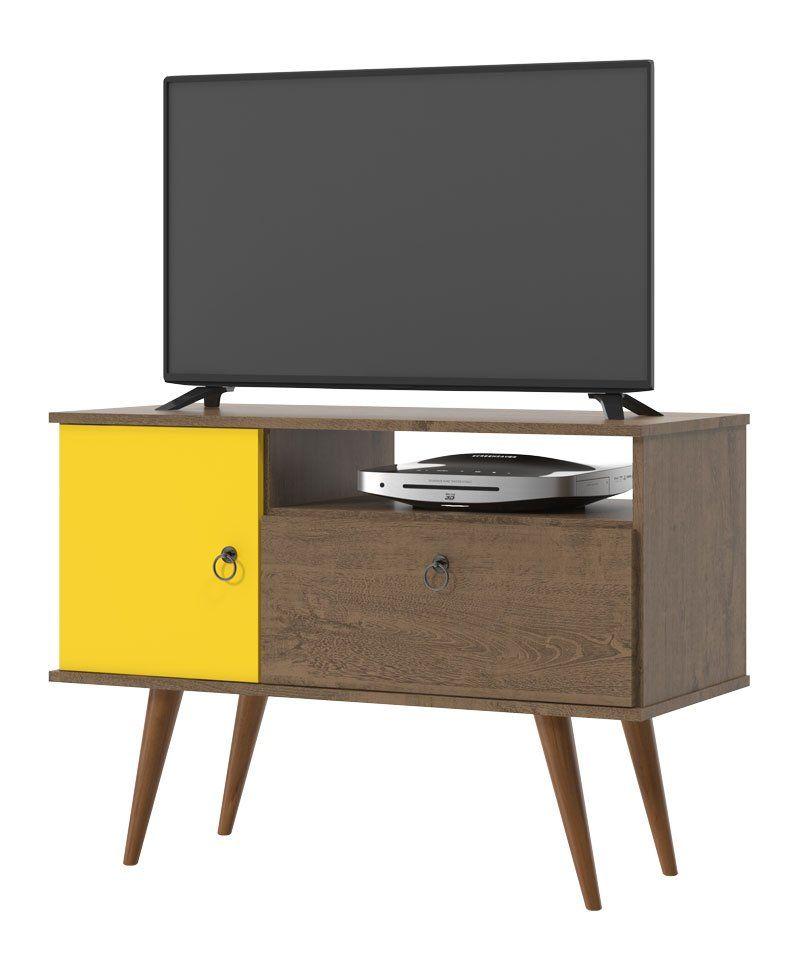 Rack para TV Yan Demolição com Amarelo - Patrimar Móveis