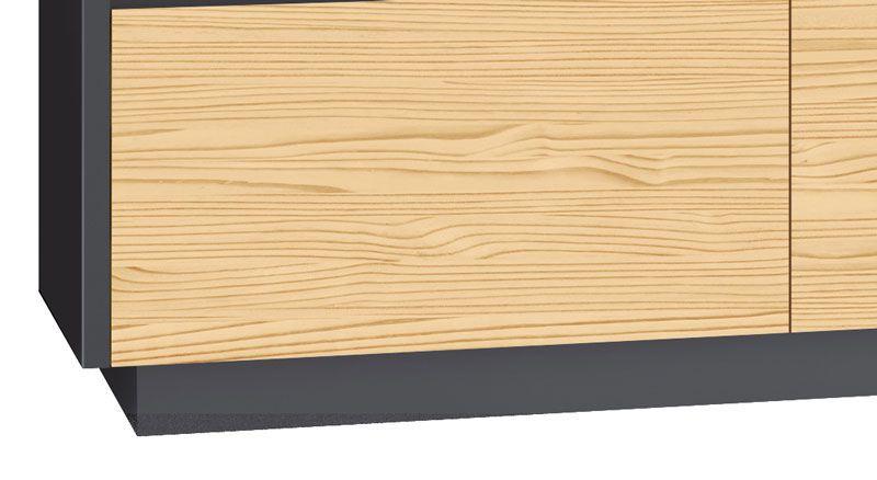 Rack para TV Zeus 1.8 Grafite com Pinus - Edn Móveis