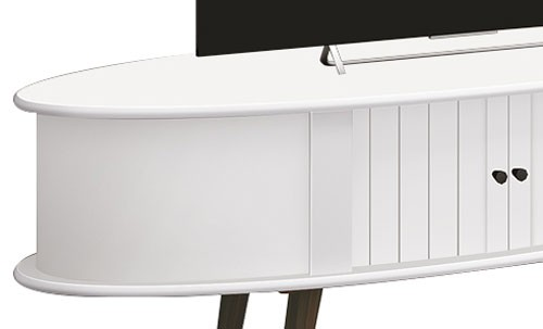 Rack Retro 1.3 Jazz Branco - Edn Moveis