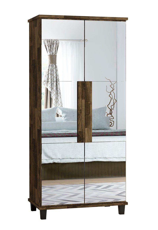 Sapateira com Espelho Requinte Amadeirado - RV Móveis