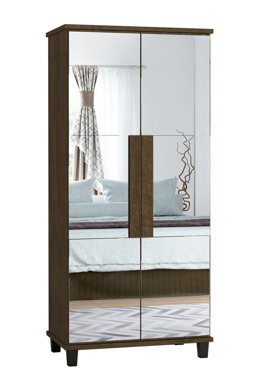 Sapateira com Espelho Requinte Imbuia - RV Móveis