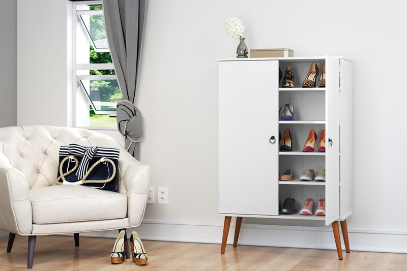 Sapateira Spazio Branco - Patrimar Móveis  - MoveisAqui - Loja de móveis online!