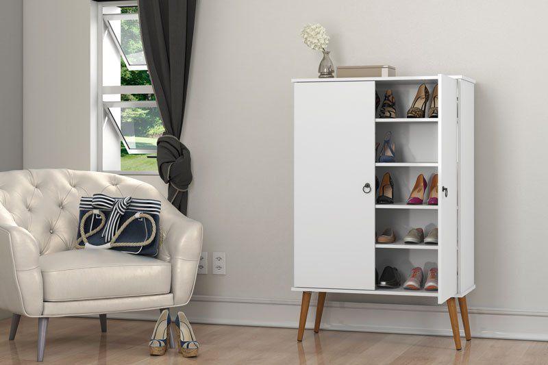 Sapateira Spazio Branco - Patrimar Móveis