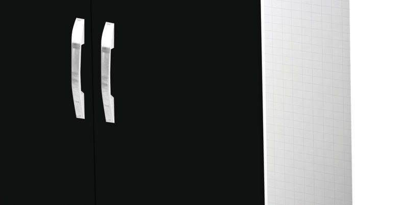 Tábua de Passar Amélia Branco com Preto - Móveis Primus