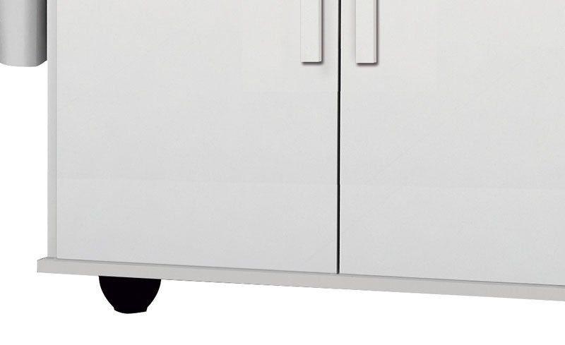 Tábua de passar Roupa Bella Branco Brilho com Canelato - Trinobél Móveis