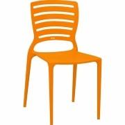 Tramontina Cadeira Sofia Encosto Vazado Horizontal Ref.92237 090 Laranja