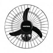 Ventilador Osc Parede 50cm Ventisol Preto Grade Aço CH HH Motor 200W Premium