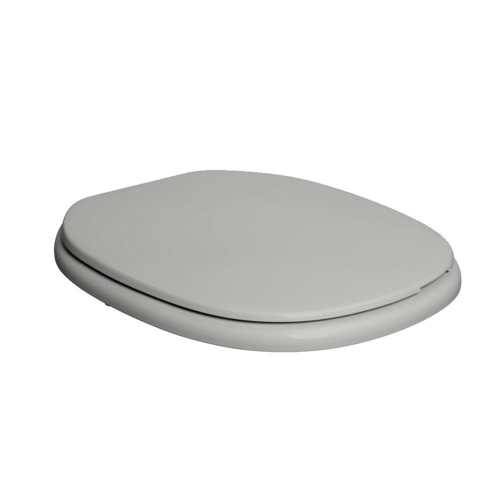 Assento Plástico Com Microban Monte Carlo Deca Cinza Ref. AP.80.87