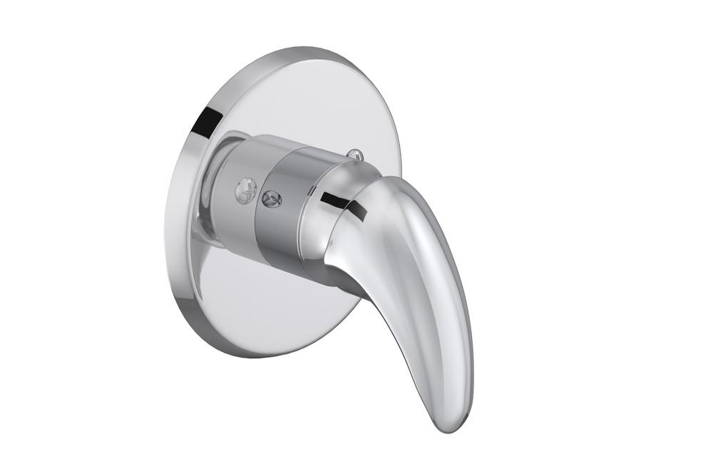 Acabamento Monocomando Alta Pressão e Baixa Pressão Para Chuveiro Smart Cromado Deca Ref. 4993.C71.CHU