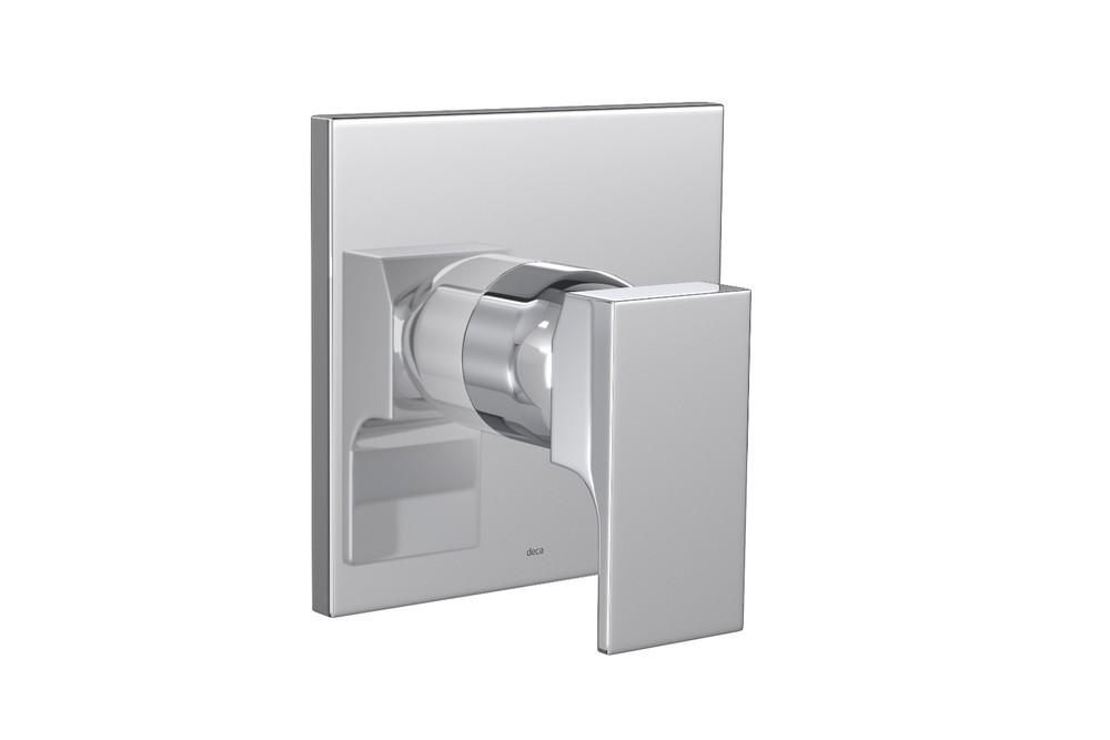 Acabamento Monocomando Alta Pressão e Baixa Pressão Para Chuveiro Unic Cromado Deca Ref. 4993.C90.CHU