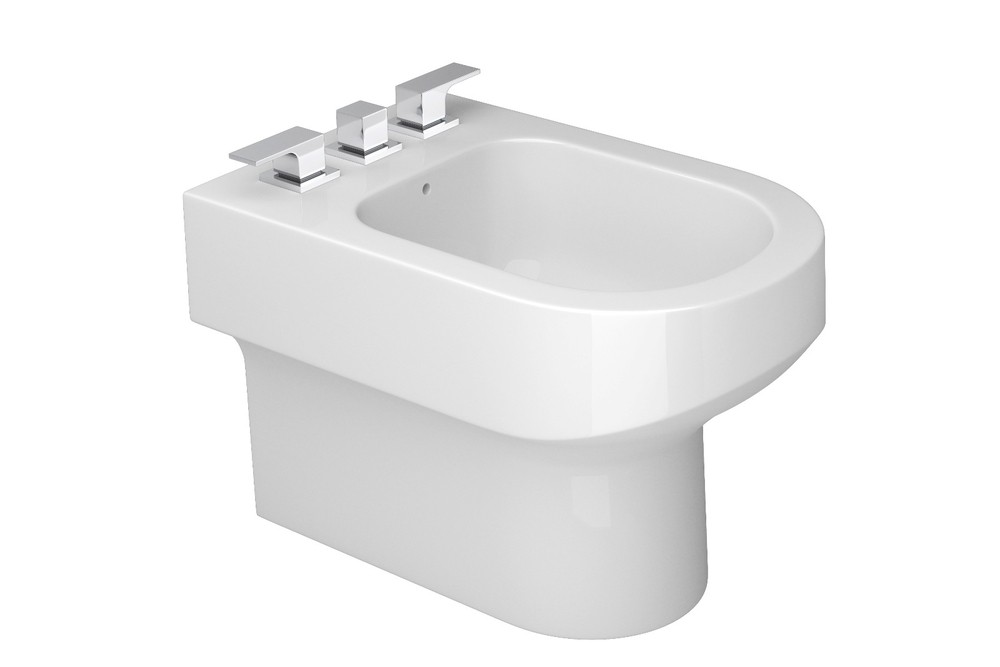 Bidê Com 3 Furos Carrara Deca Branco Ref. B.60.17