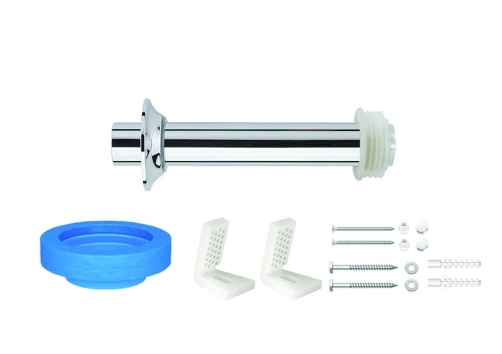 Kit de Instalação Para Bacia Convencional Com Fixação Lateral Cromado Deca Ref. 1201.C.KIT.P