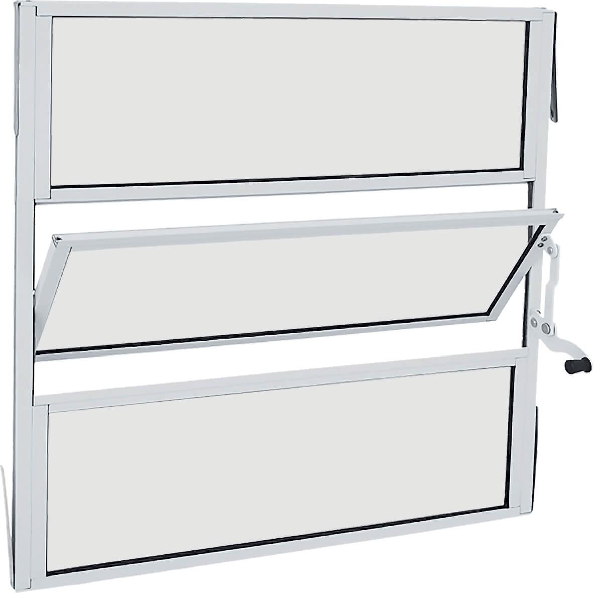 Alumifit Janela Basculante 0.60x0.60x1.35 Branca Ref. 78.30.102-3 Sasazaki