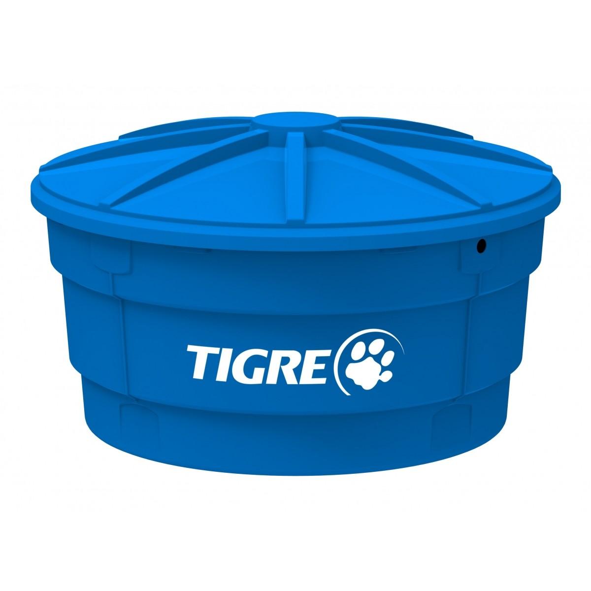 Caixa D'agua 500L Com Tampa Tigre