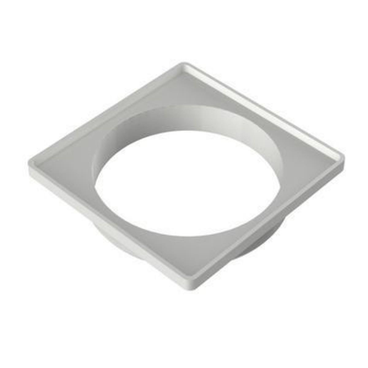Esgoto Porta Grelha Quadrado Para Grelha Quadrada Branca 100mm - 4