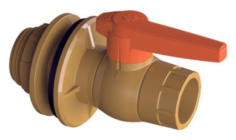 Solda Adaptador Para Caixa D.Agua Com Registro 50mm(11/2) Tigre