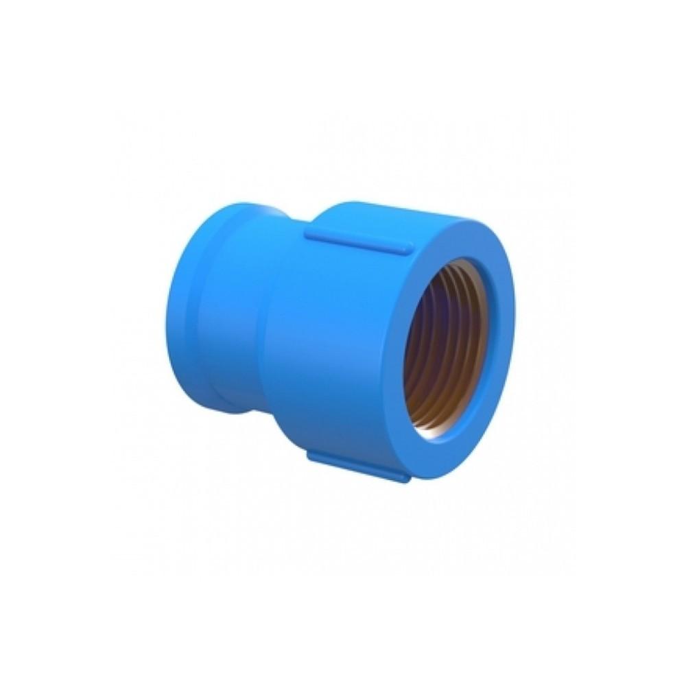 Solda Azul Luva Redução Com Bucha de Latão 25mmx1/2  Tigre
