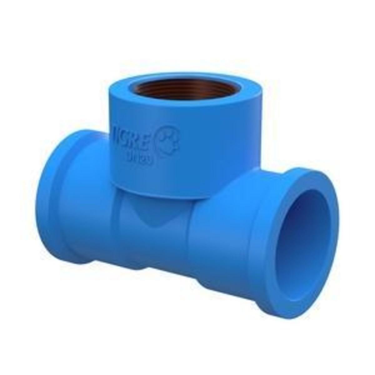 Solda Azul Tê Com Bucha de Latão 20mmx1/2  Tigre
