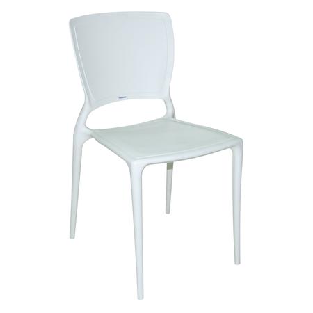 Cadeira Sofia Encosto Fechado Ref. 92236/010 Tramontina Branco