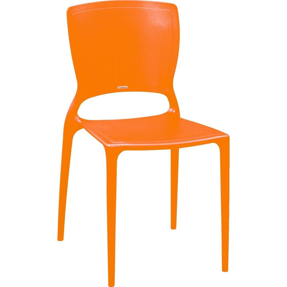 Cadeira Sofia Encosto Fechado Ref. 92236/090 Tramontina Laranja