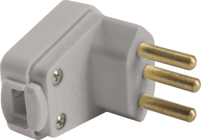 Elétrica Plugue Angular 3P 10A 250V Tramontina Cinza