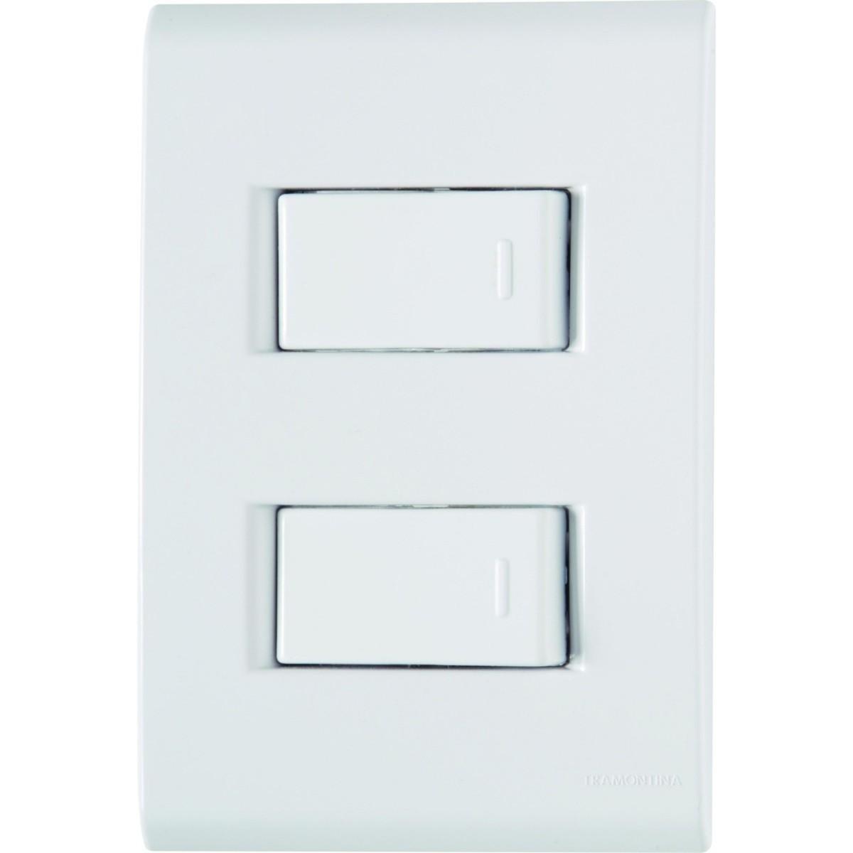 Ilum Conjunto 2 Interruptores Simples 10A 250V Tramontina