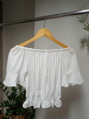 Blusa Ciganinha Babado Viscose - Babado