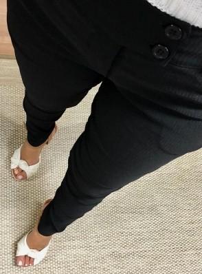 Calça Skinny Bengaline Canelado - Roberta