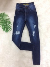 Calça Skinny Jeans Destroyed Capitan - Angelita