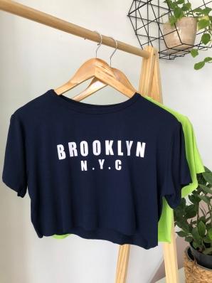 Camiseta Cropped Viscolycra - Brooklyn