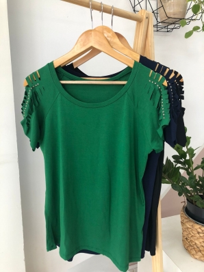 Camiseta Viscolycra Plus Size Brilho - Vitoria