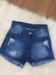 Shorts Curto Jeans Destroyed Capitan - Bruna