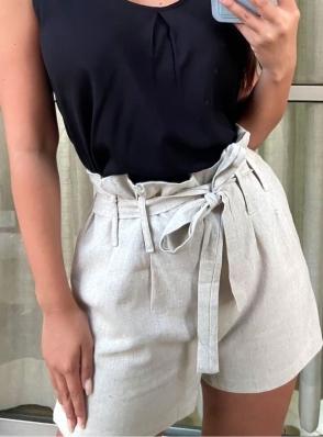 Shorts Curto Linho - Barbara