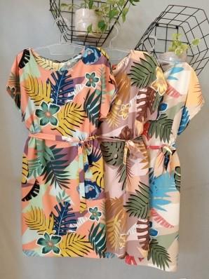 Vestido Curto Estampa Florais Viscose Acetinada - Rosana