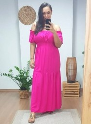 Vestido Longo Ciganinha Lastex - Roberta