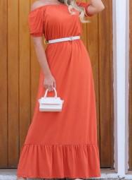 Vestido Longo Ciganinha Viscolycra - Suelen