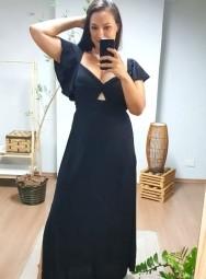 Vestido Longo de Viscose - Manu