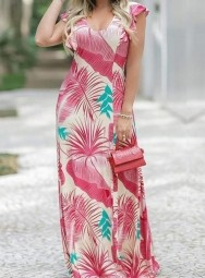 Vestido Longo Estampado Viscolycra - Vitória