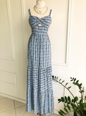 Vestido Longo Fenda - Vanessa
