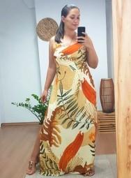 Vestido Longo Plus Size Viscolinho - Luana