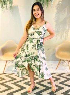 Vestido Midi Viscolinho - Yasmin