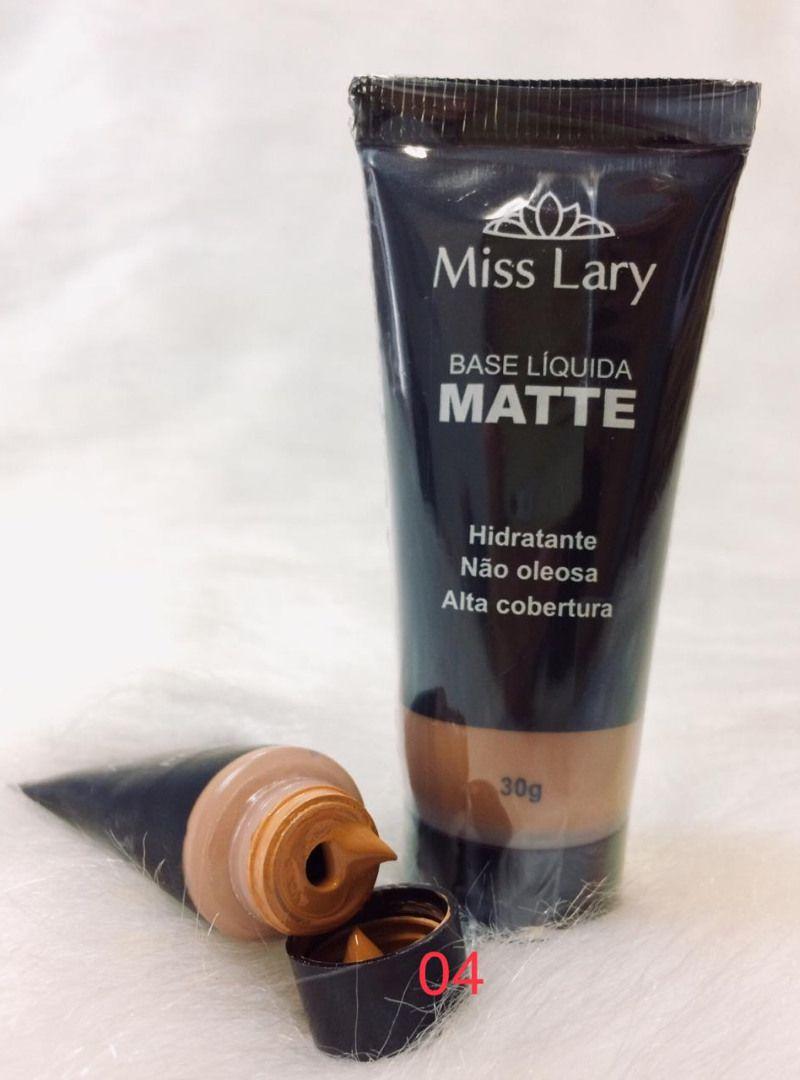 Base Líquida Alta Cobertura Matte - Miss Lary