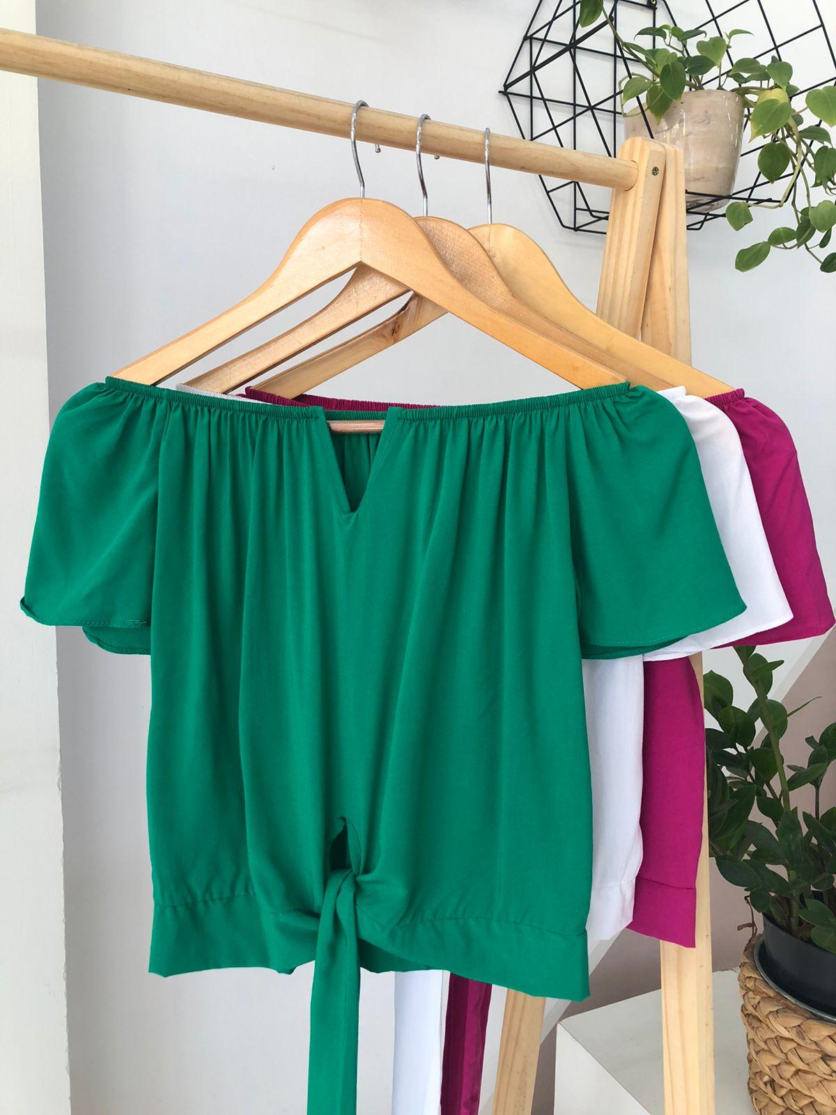 Blusa Ciganinha Nó Viscose - Isabela
